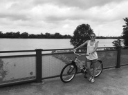 Bike ride along the river in Tulsa with the sister and sis-in-law