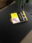 So...sat down at a table at Starbucks and this was sitting there...a bullet shell and 'Grant writing for dummies'....kind of weird and creepy if you ask me! haha