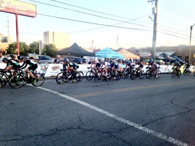 Went to a big bike race in downtown Tulsa - Tulsa Tough