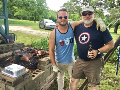 Colton and my dad - 4th of July