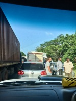 Just a small traffic jam on the main highway across Tanzania ;)
