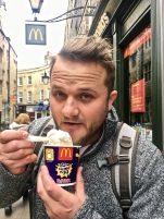 A Cadberry Creme egg McFlurry...Colton couldn't resist