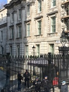 Our attempt at seeing 10 Downing Street...it was blocked off haha