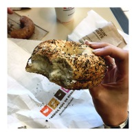 Cant visit the East Coast without having a bagel ;)