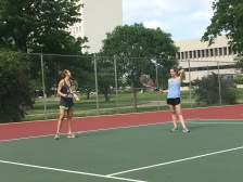 tennis time = sister time