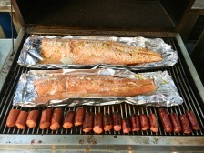 Its not a Tulsa summer without a cookout with salmon!