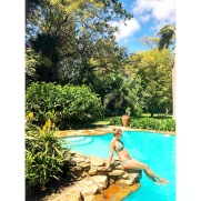 26 weeks poolside in Arusha
